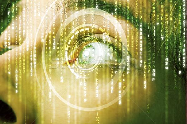 Modernen Soldat Ziel Matrix Auge abstrakten Stock foto © ra2studio