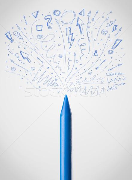 Crayon escolas abstrato Foto stock © ra2studio
