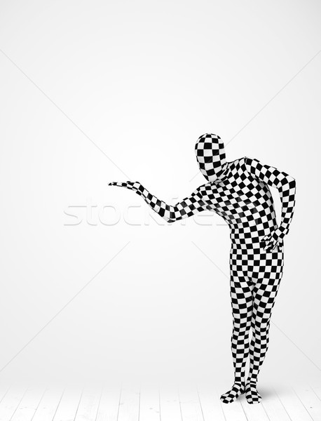 Anonymous man presenting your product Stock photo © ra2studio