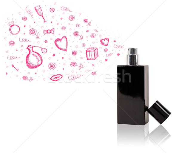 Fora belo perfume garrafa dom Foto stock © ra2studio