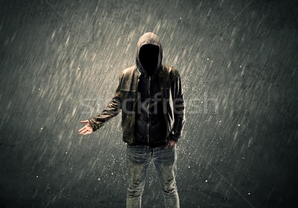 Tipo pie peligroso irreconocible criminal Foto stock © ra2studio