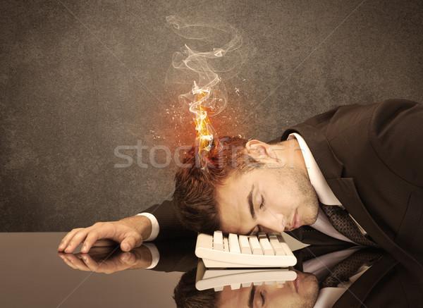 Triste business persone testa fuoco frustrato Foto d'archivio © ra2studio