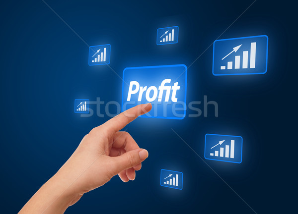 hand pressing Profit button Stock photo © ra2studio