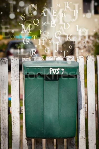 メールボックス 文字 外に 通り 紙 図書 ストックフォト © ra2studio