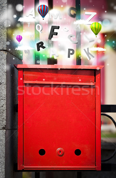 Post box with colorful letters Stock photo © ra2studio
