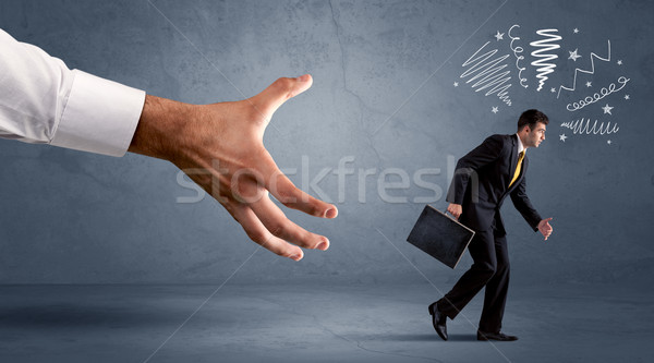 Stressante imprenditore esecuzione grande mano ufficio Foto d'archivio © ra2studio