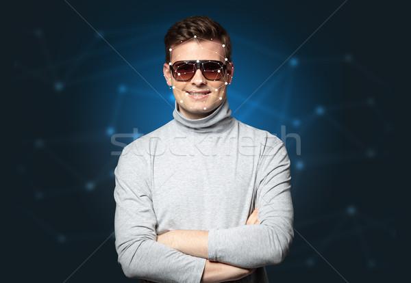 лице признание компьютер человека безопасности Сток-фото © ra2studio