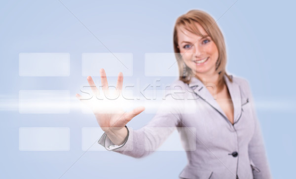 woman hand pressing digital button Stock photo © ra2studio