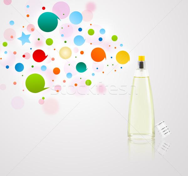 Zdjęcia stock: Perfum · butelki · kolorowy · pęcherzyki · kolorowy · dar