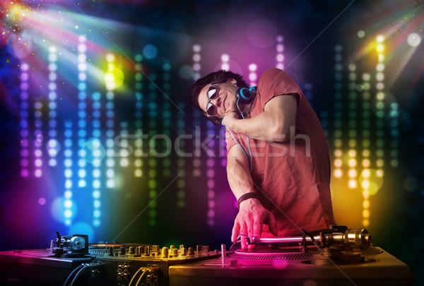 играет дискотеку свет шоу молодые вечеринка Сток-фото © ra2studio