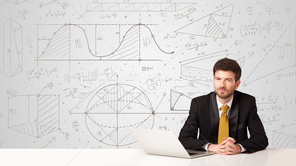 Zakenman business zakenman vergadering witte tabel Stockfoto © ra2studio