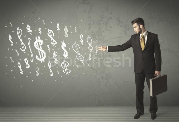 小さな ビジネスの方々  手描き ドル記号 ビジネス 男 ストックフォト © ra2studio