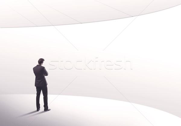セールスマン 立って 戻る 小さな 販売 事業者 ストックフォト © ra2studio