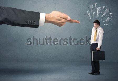 Boss hand firing guilty businessman Stock photo © ra2studio
