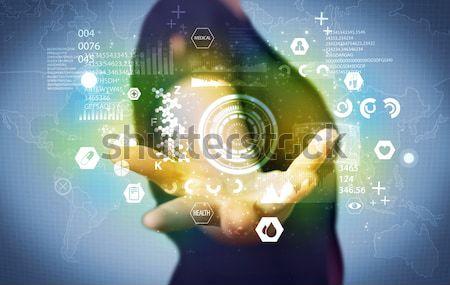 Affaires médicaux données affaires analytics personne Photo stock © ra2studio