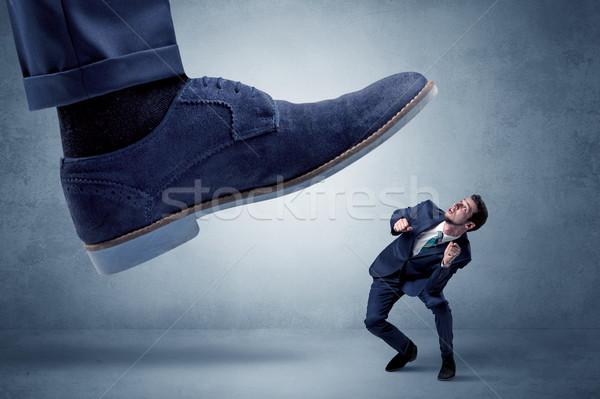Cruel patron employé grand pied faible Photo stock © ra2studio