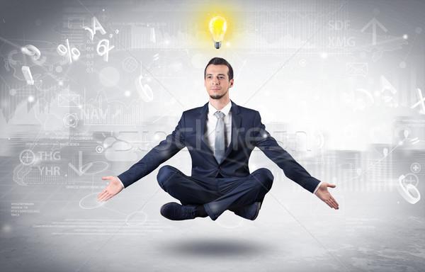 бизнесмен просветление данные финансовых человека Сток-фото © ra2studio
