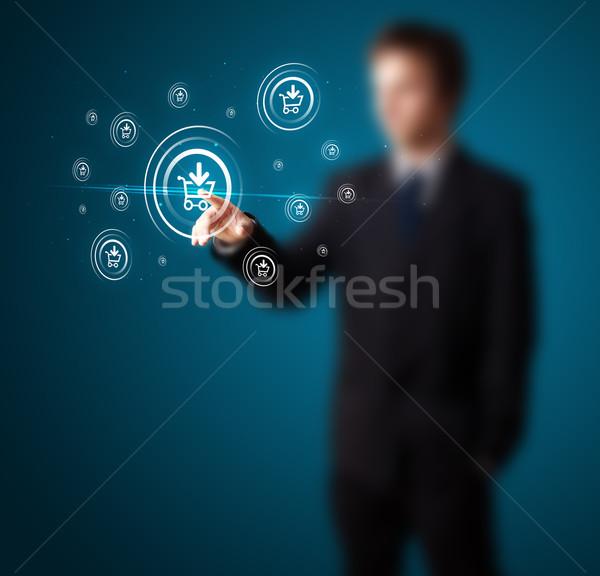 Foto stock: Empresario · promoción · envío · tipo · moderna