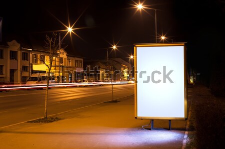 white display advertising with traffic at night  Stock photo © ra2studio