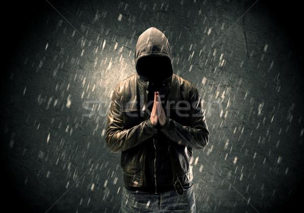 неизвестный Постоянный темно человека видимый Сток-фото © ra2studio