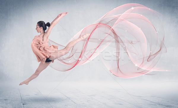 Foto stock: Baile · ballet · rendimiento · artista · resumen · remolino