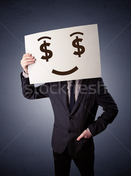 бизнесмен бумаги жадный эмоций молодые Сток-фото © ra2studio