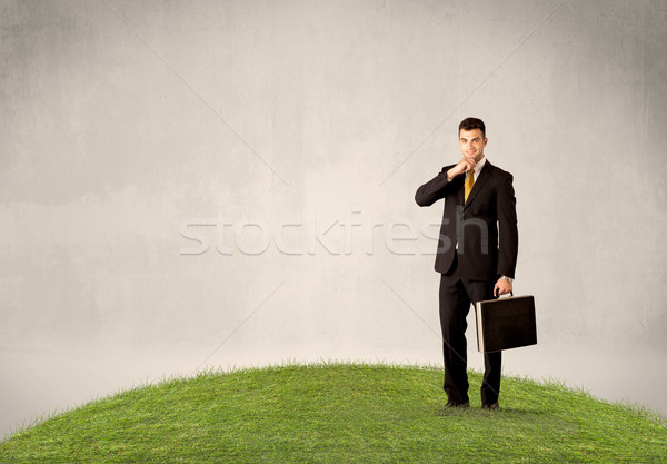 男子 常設 城市 景觀 成功 商業照片 © ra2studio