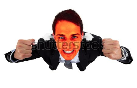 Angry business man with red exploding face 2 Stock photo © ra2studio
