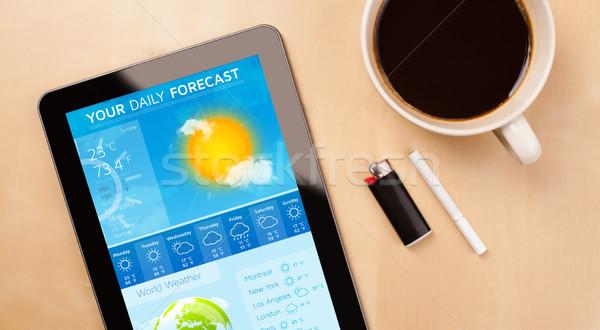 Local de trabalho tempo previsão copo Foto stock © ra2studio