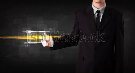 Fusil Homme main bullet sur Photo stock © ra2studio