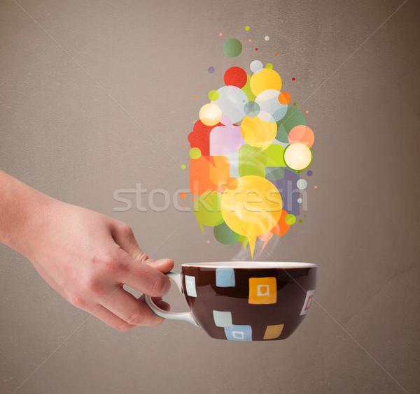 茶碗 カラフル 吹き出し 食品 抽象的な ストックフォト © ra2studio