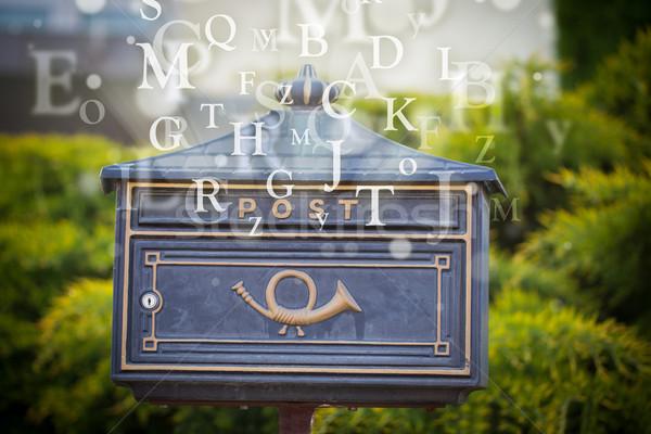 почтовый ящик письма из улице бумаги книга Сток-фото © ra2studio