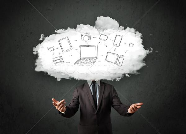 プロ ビジネスマン クラウドネットワーク 頭 インターネット 技術 ストックフォト © ra2studio