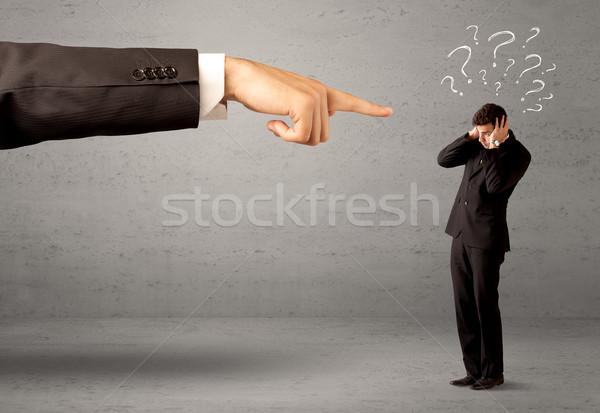 Stockfoto: Verward · werknemer · om · baas · jonge · amateur