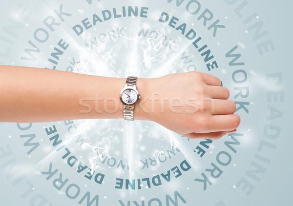 часы работу крайний срок Дать заседание бизнесмен Сток-фото © ra2studio