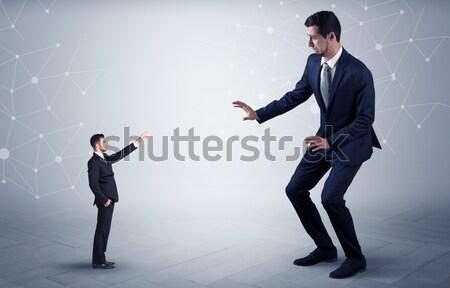 Business zakenman handdruk verbergen wapen symbolen Stockfoto © ra2studio