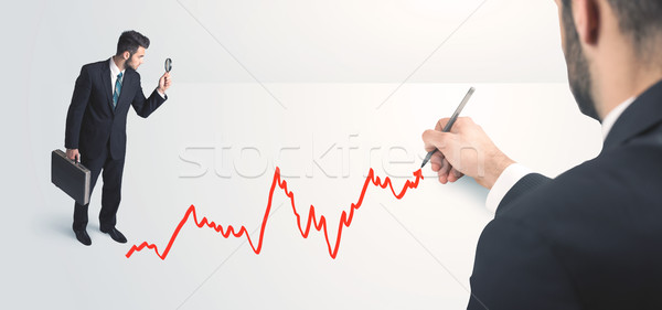 Business person looking at line drawn by hand  Stock photo © ra2studio
