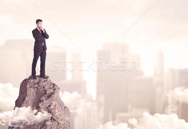 ビジネスマン 崖 プロ 勝者 事業者 ストックフォト © ra2studio