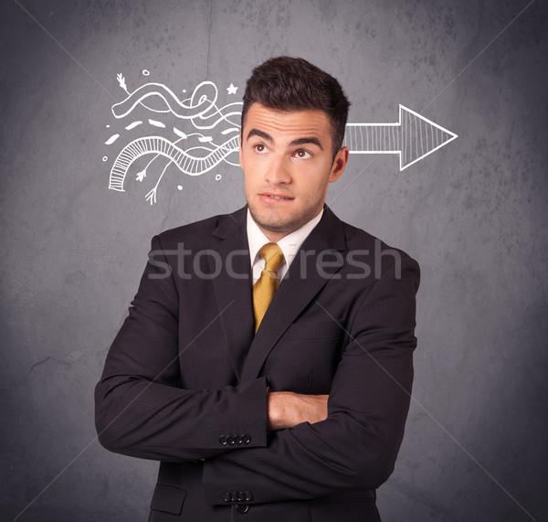 Confident sales person solves problem Stock photo © ra2studio