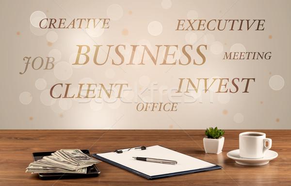 бизнеса Дать стены работу служба Сток-фото © ra2studio