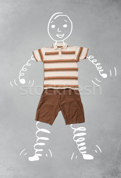 Funny cartoon character in casual clothes Stock photo © ra2studio