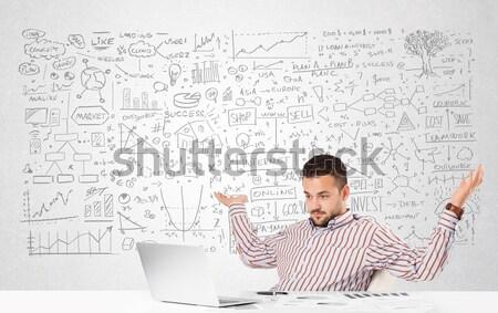 Stockfoto: Zakenman · planning · business · ideeën · jonge