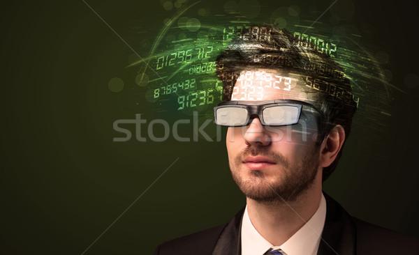 ビジネスマン 見える 高い ハイテク 番号 コンピュータ ストックフォト © ra2studio