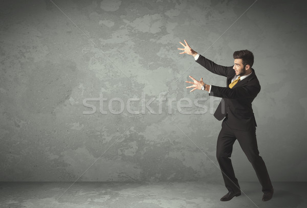 Business person throwing with empty copyspace Stock photo © ra2studio