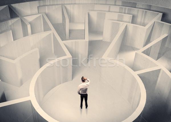事業者 立って 迷路 センター 混乱 ビジネスマン ストックフォト © ra2studio