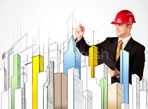город молодые строительная площадка работник Сток-фото © ra2studio