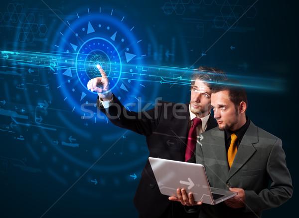 ハンサム ハイテク ハイテク コントロールパネル ストックフォト © ra2studio