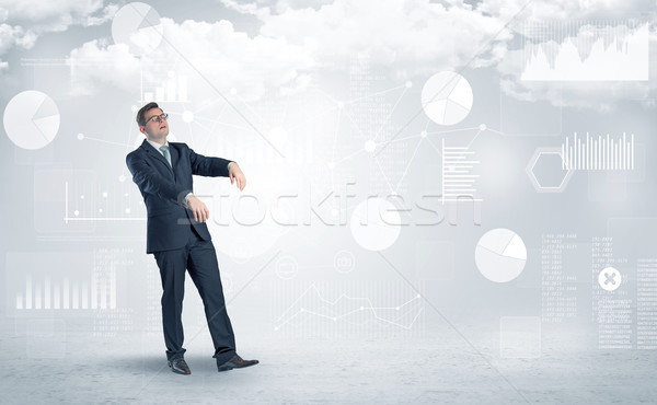 Businessman dreaming with his work Stock photo © ra2studio