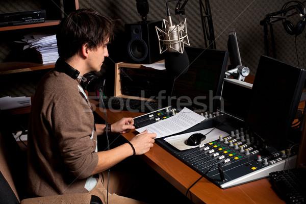 radio dj Stock photo © ra2studio