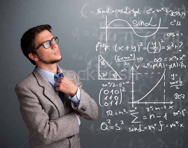 élégant pense complexe mathématique signes Photo stock © ra2studio